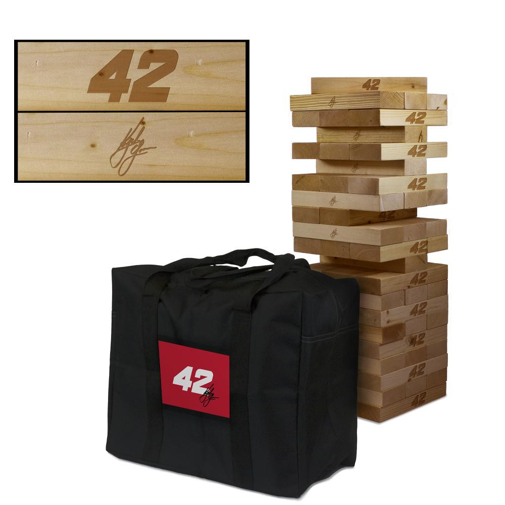 KYLE LARSON #42 Wooden Stained Tumble Tower Game