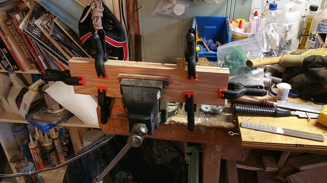 Spacer parts glued and clamped*