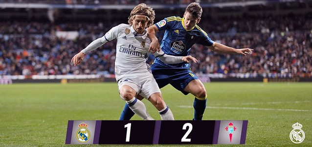 Copa del Rey - Cuartos de Final (Ida): Real Madrid 1 - Celta de Vigo 2