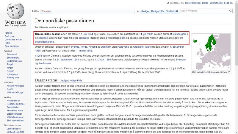 den nordiske passunionen wiki