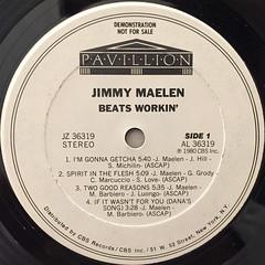 JIMMY MAELEN:BEATS WORKIN'(LABEL SIDE-A)