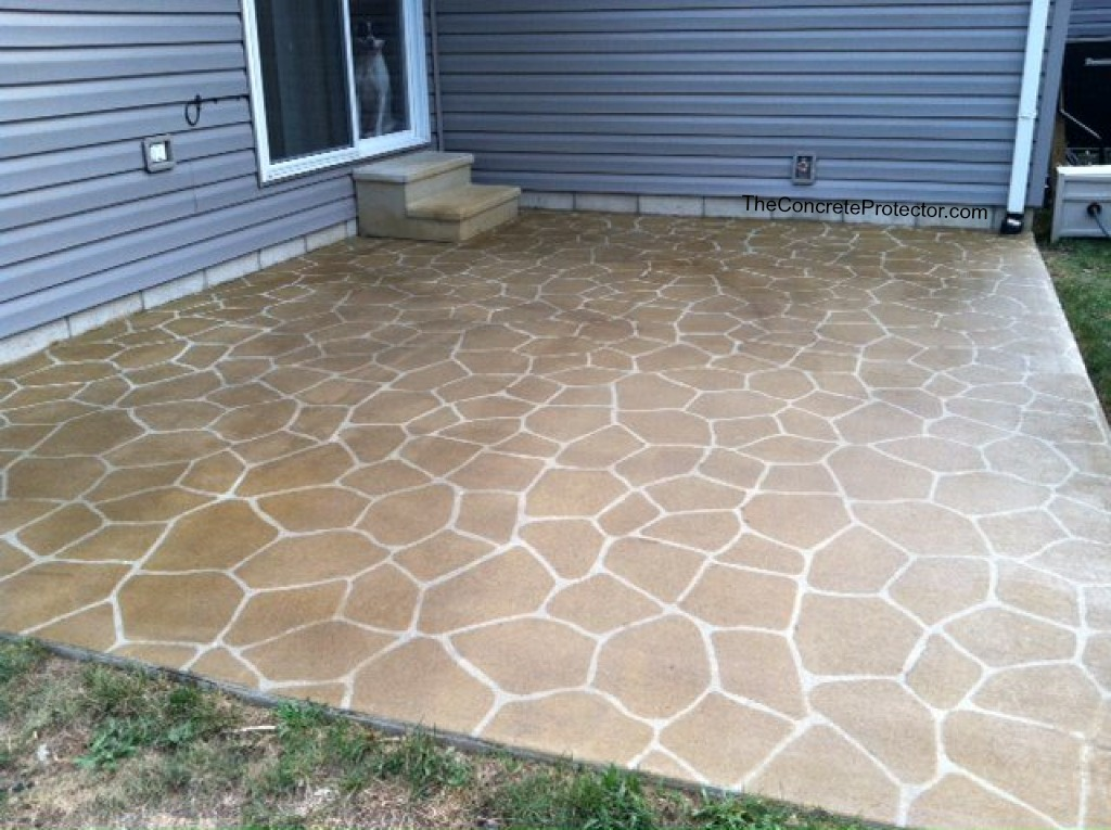 ... Stenciled And Stained Concrete Patio  Sure Seal  Findlay, OH | By Decorative  Concrete