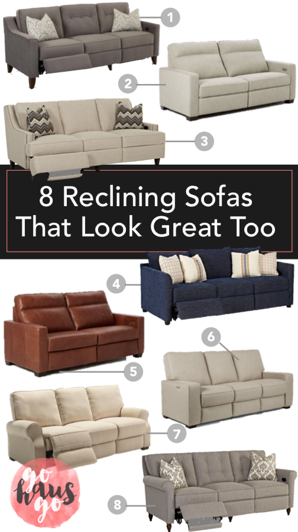 8 Reclining Sofas That Look Great Too U2013 Go Haus Go U2013 A DIY And Design Blog  By Emily May