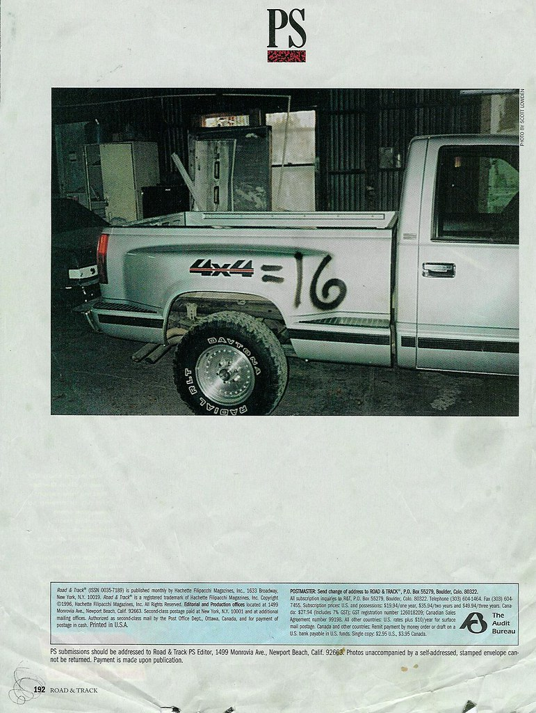Scott Lowden 4x4 16 Road And Track Magazine Ps Macauspit Flickr