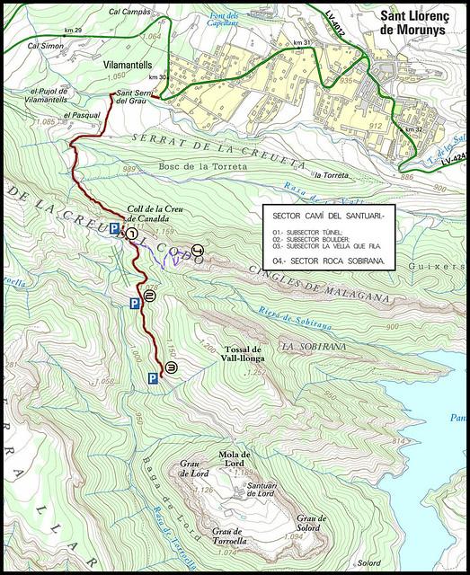La Vall de Lord - Acceso -03- Sector Camí del Santuari de Lord