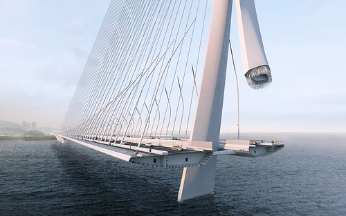 Zaha Hadid Architects - 淡江大橋 Danjiang Bridge - redering 10(render by MIR) | by 準建築人手札網站 Forgemind ArchiMedia