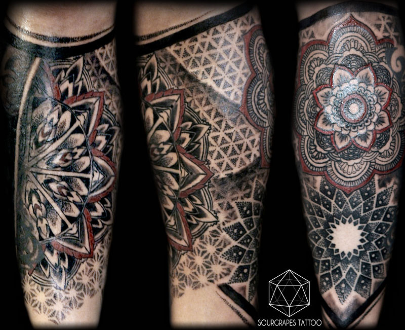 geometric mandala dotwork tattoo sourgrapes tattoo latin a flickr. Black Bedroom Furniture Sets. Home Design Ideas