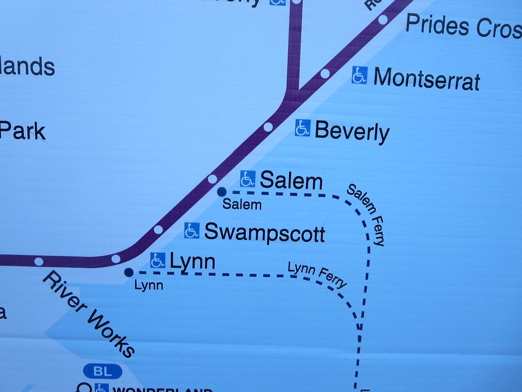 MBTA Massachusetts Bay Transportation Authority train map … | Flickr