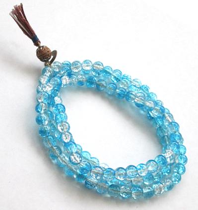Rosario Tibetano Cristal Azul