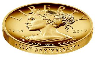 2017 American Liberty Gold Coin edge