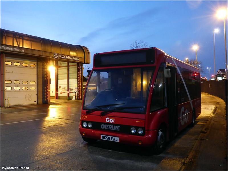 Plymouth Citybus 209 WK58EAJ