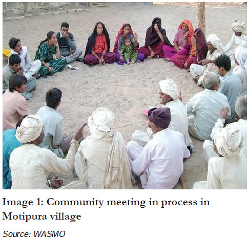 Community meeting in process in