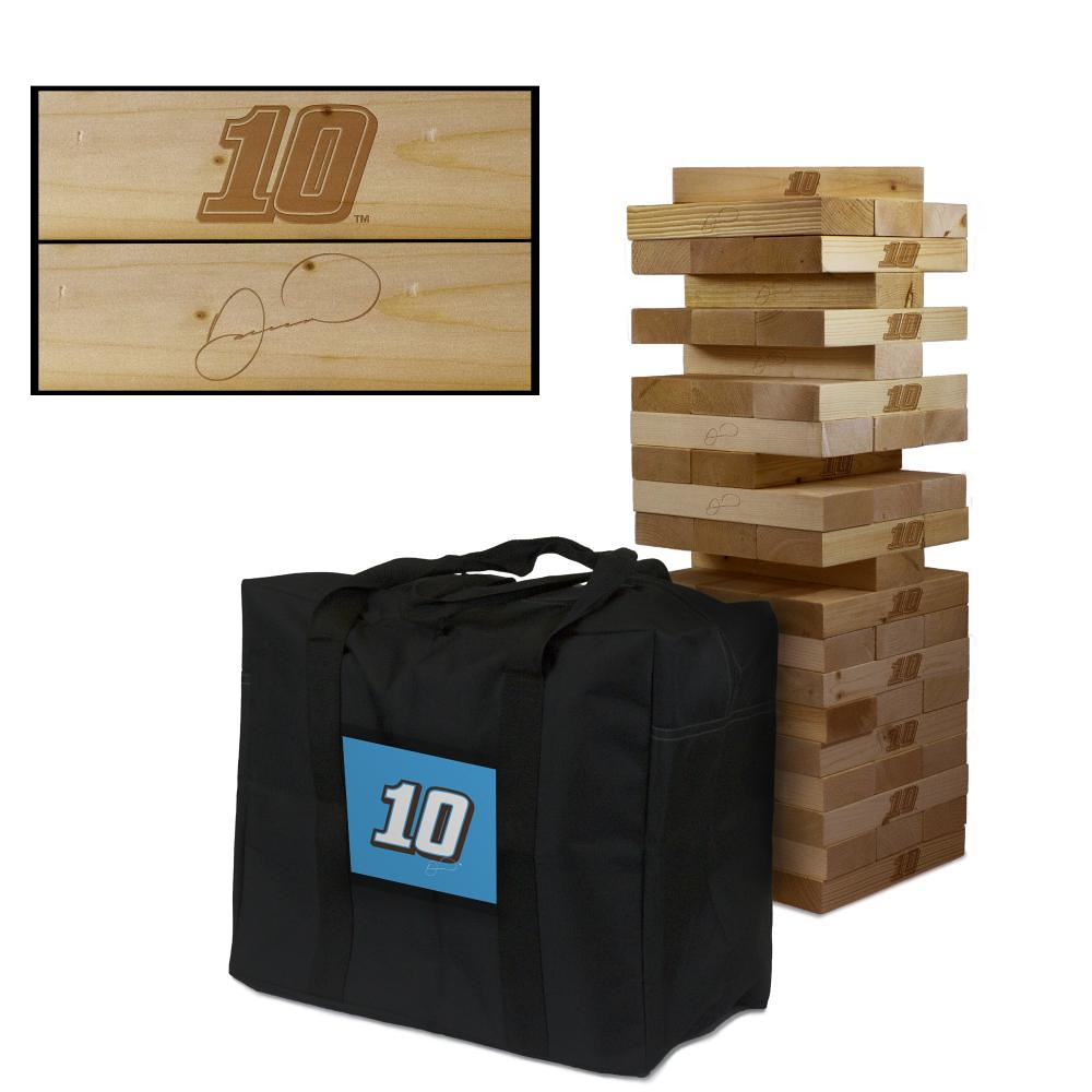 DANICA PATRICK #10 Wooden Stained Tumble Tower Game