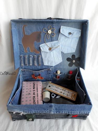 scatola portagioietrucchi cuori e fiori 5
