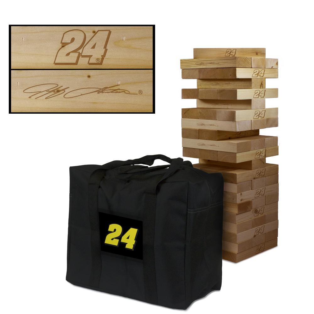 JEFF GORDON #24EVER Wooden Stained Tumble Tower Game
