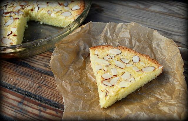 Swedish Almond Cake slice BLOG VIN