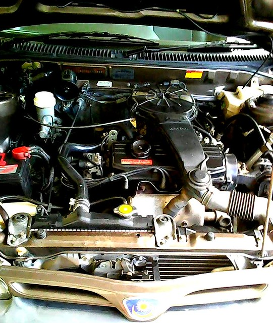 Car engine, cleaned