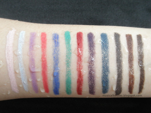 Marc Jacobs Highliner Matte Gel Eye Crayon Water Rub Test
