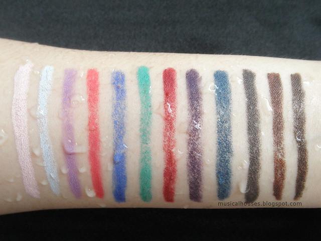 Marc Jacobs Highliner Matte Gel Eye Crayon Water Rub Test