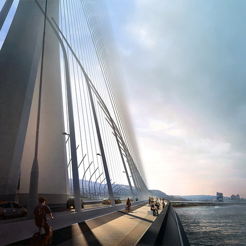 Zaha Hadid Architects - 淡江大橋 Danjiang Bridge - redering 09(render by MIR) | by 準建築人手札網站 Forgemind ArchiMedia