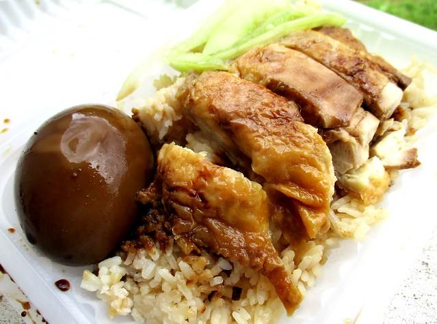 Chopsticks chicken rice & egg