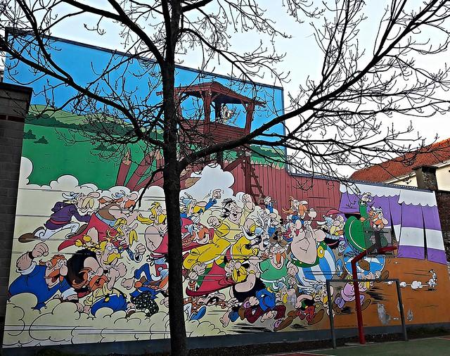 bruxelles murales fumetti
