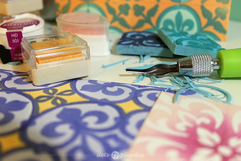 Carvado de sellos - azulejos hidraulicos