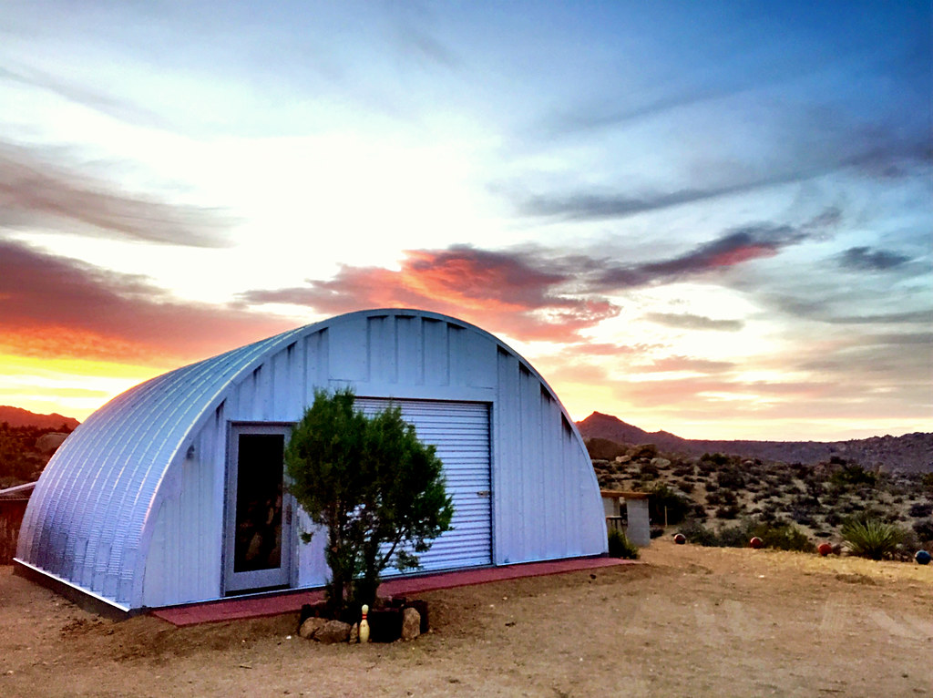 Steel Quonset Garage A Desert Sunset With Our Quonset