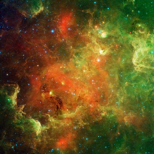 VCSE - Mai kép - Észak-Amerika - köd - Spitzer Infravörös Űrtávcső