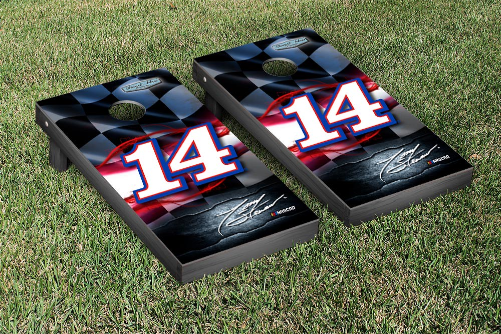 TONY STEWART #14 CORNHOLE GAME SET NIGHT LIGHTS VERSION (1)