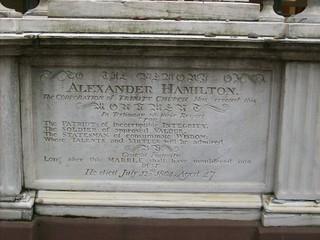 Alexander Hamilton gravestone