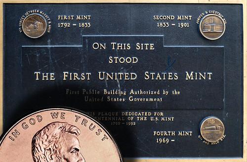 2017-P cent on Mint Plaque