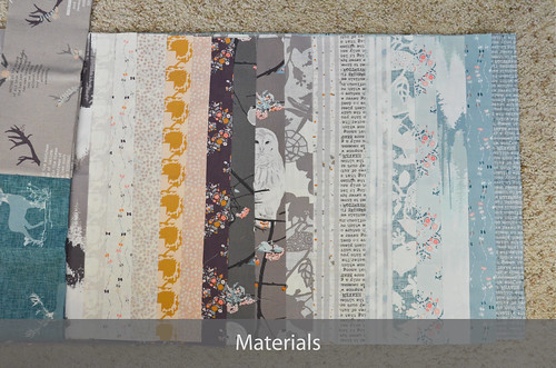 1. Materials for Double Wedding Ring Quilt