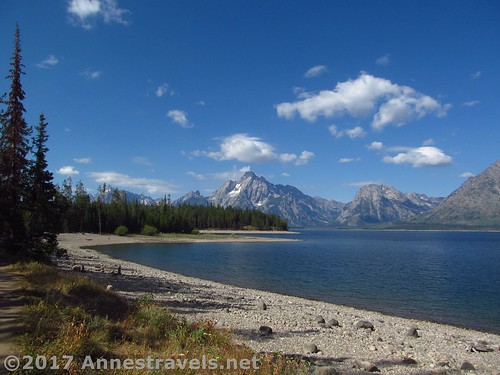 Mt. Moran and the Tetons from the Lakeshore Trail, Grand Teton National Park, Wyoming