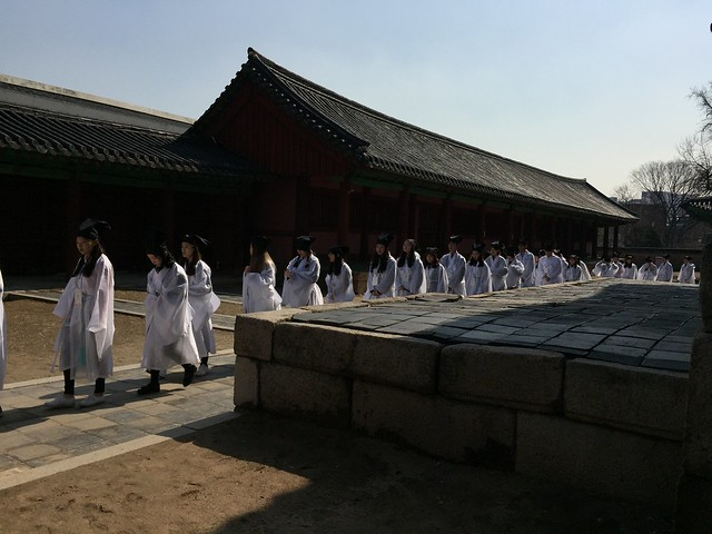 Freshmen in traditional clothing
