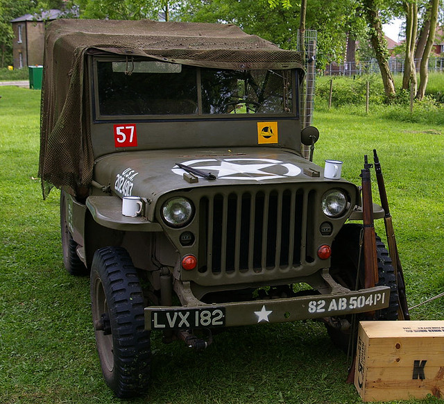 Ww2 Jeep Pictured Willys Jeep In The Markings Of One Of