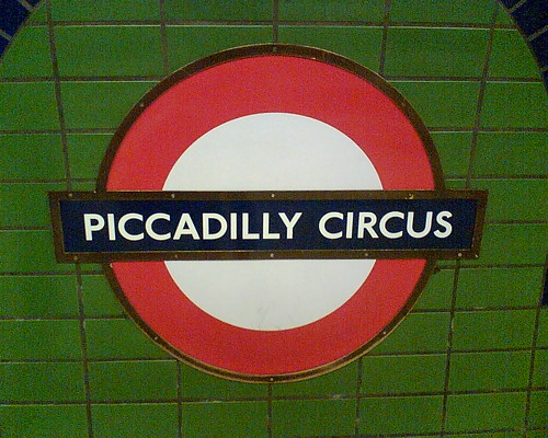Piccadilly Circus Tube Sign The Location Of The Tube
