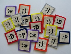 emoticon patches | by pillowhead designs