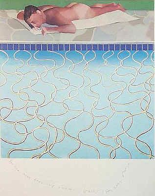 David hockney painting the most famous painter of - David hockney swimming pool paintings ...