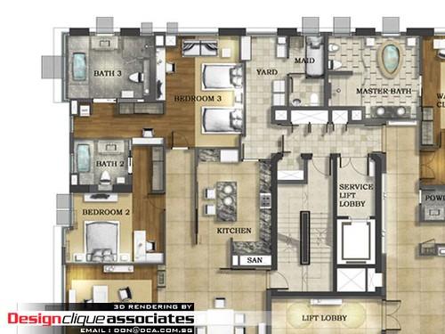 2D Layout Plan Rendering | Designer : Hirsch Bedner ...