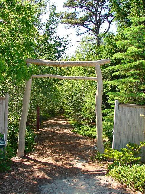Entrance to mytoi japanese gardens chappaquiddick for Japanese garden entrance