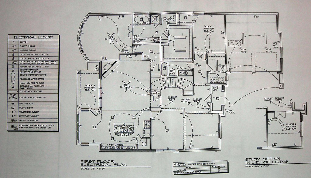 First Floor Electrical Plan | Highland Homes 976 Floor Plans… | Flickr