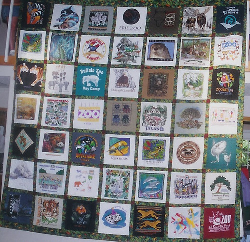 Zoo T-shirt Quilt (back side) The name of this quilt shoul? Flickr