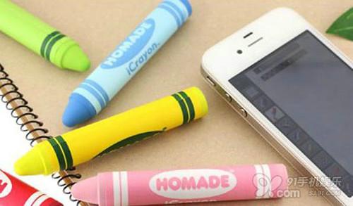 Crayon style touch screen pen, icrayon touch-screen pen, Homade stylus