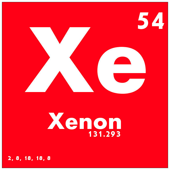 054 xenon periodic table of elements watch study guide flickr 054 xenon periodic table of elements by science activism urtaz Image collections