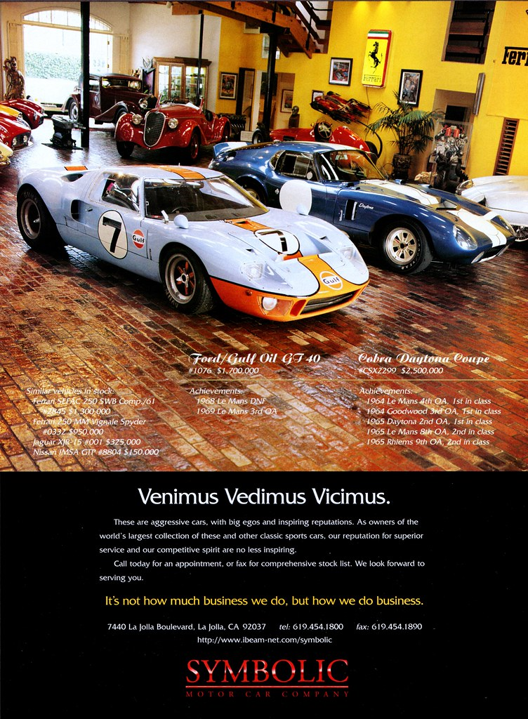 Symbolic Motor Car Co La Jolla San Diego Ca 1996 Flickr