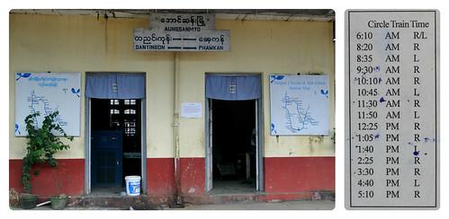 Yangon Circle Train Timetable