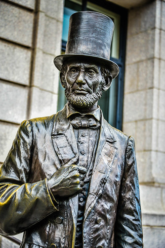 Abraham Lincoln Statue At New York Historical Society Ma