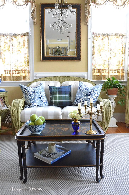 Sunroom-Chinoiserie table-Housepitality Designs