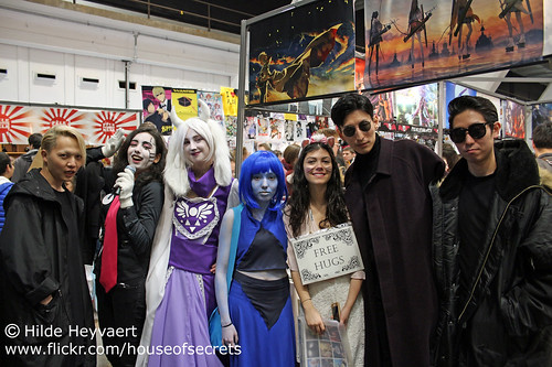 Tom loves having his photo taken with cosplayers